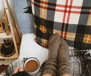 autumn, blanket, and cozy image