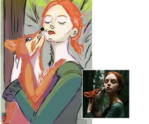 draw, sketch, and digitalpainting image