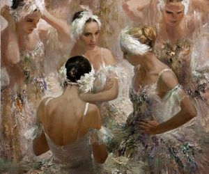 art, ballerina, and ballet image