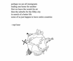 rupi kaur, book, and quote image