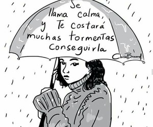 girl, quotes, and rain image