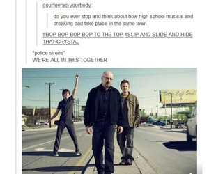 funny, breaking bad, and high school musical image