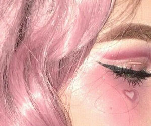 pink, girl, and heart image