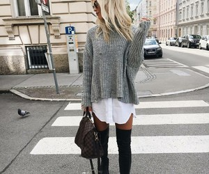 bag, white, and black boots image