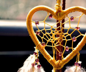 heart, Dream, and dreamcatcher image