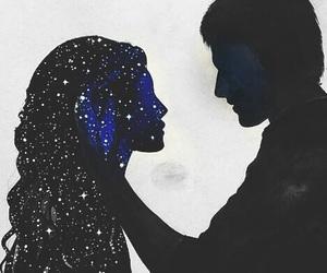 love, stars, and art image