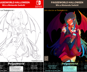 coloring, contest, and paigeeworld image