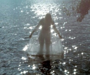 water and girl image