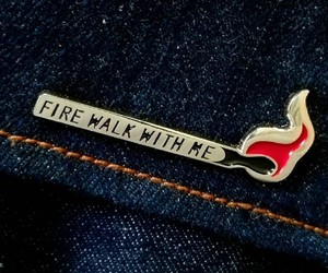 fire, jean, and pin image