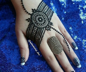 henna, mehndi, and beautiful henna image