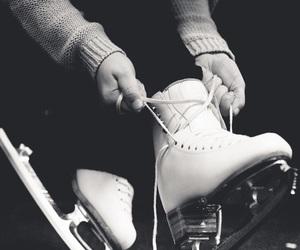 ice skate, ice skating, and skating image