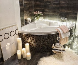 bathroom, interior, and cozy image