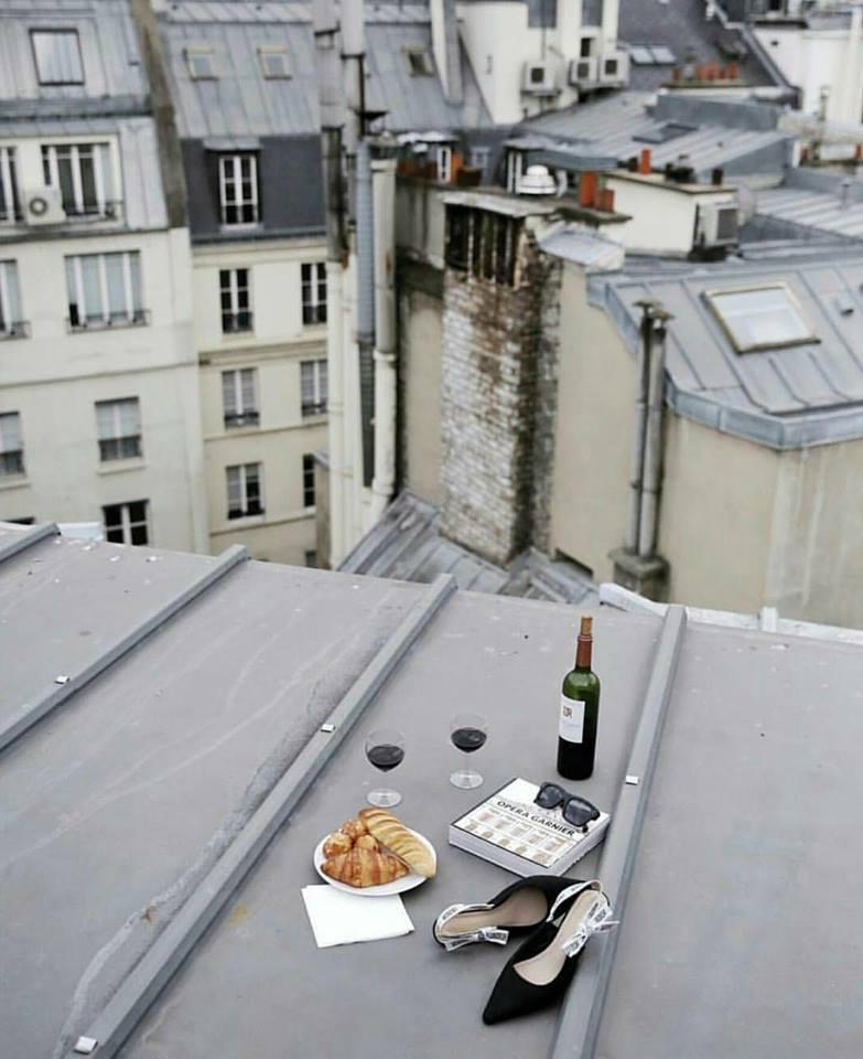 wine, city, and food image