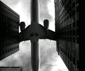 air, plane, and sky image