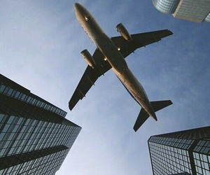 air, airplane, and fly image