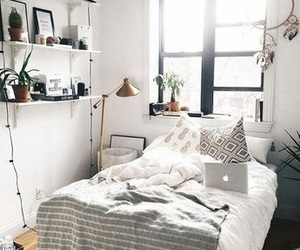 room, home, and bed image