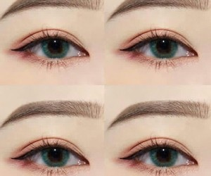 eyes, makeup, and korean makeup image