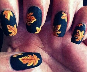 nails, autumn, and fashion image