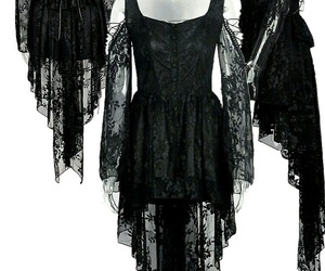 black, lace, and dark image