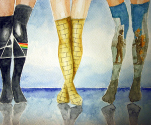 art, Pink Floyd, and socks image