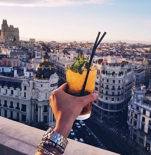 drink, madrid, and spain image