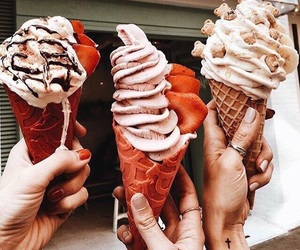 ice cream, autumn, and food image