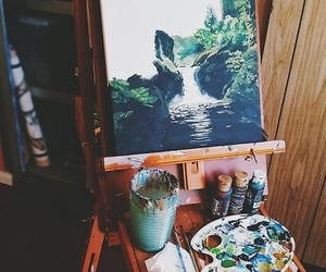 art, paint, and nature image