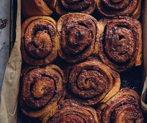 cinnamon rolls, food, and autumn image