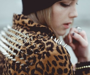 fashion, spikes, and leopard image