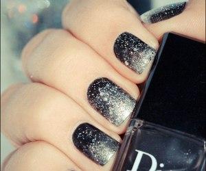nails, dior, and black image