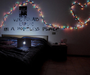 love, lights, and room image