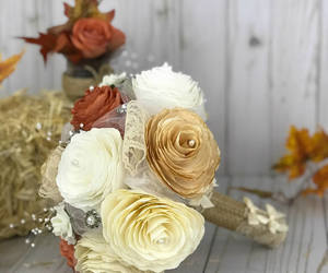 etsy, paper flowers, and burlap and lace image