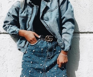 girl, style, and denim image