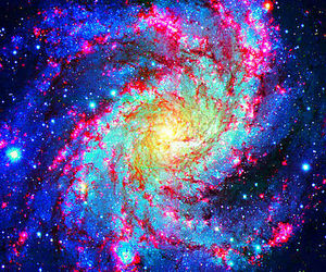 space, galaxy, and light image