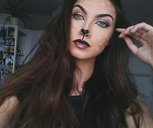 beauty, cat, and makeup image