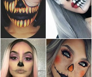 Halloween, maquillaje, and moda image