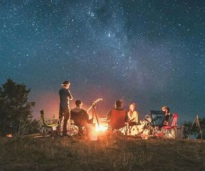 stars, friends, and fire image