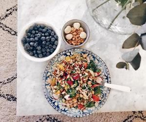 autumn, blueberries, and salad image