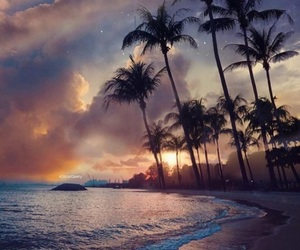 sunset, beach, and photography image