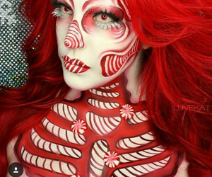art, fantasy, and makeup image
