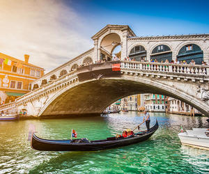 bridge, gondola, and italy image