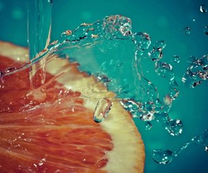 orange, water, and fruit image