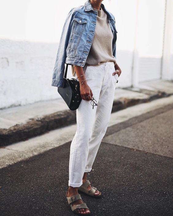 article, denim jacket, and fall image