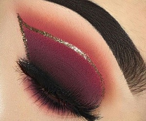 burgundy and makeup image