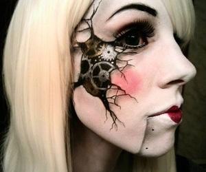 Halloween, make up, and creepy image