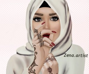 cartoonish and hijab image
