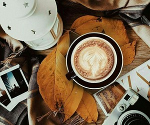 autumn, coffee, and fall image