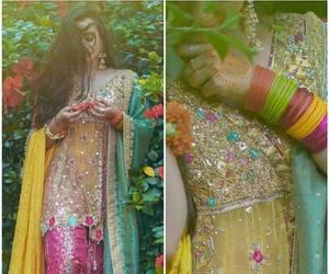 fashion, lehenga, and indian bride image