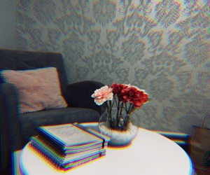 aesthetic, flowers, and grey image