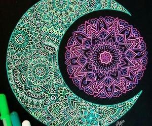 colors, mandala, and arte image